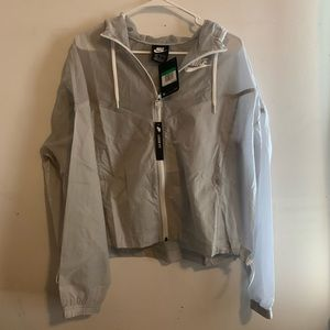 NWT Nike grey windbreaker